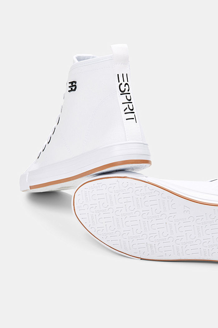 High Sneaker aus Canvas, WHITE, detail image number 4