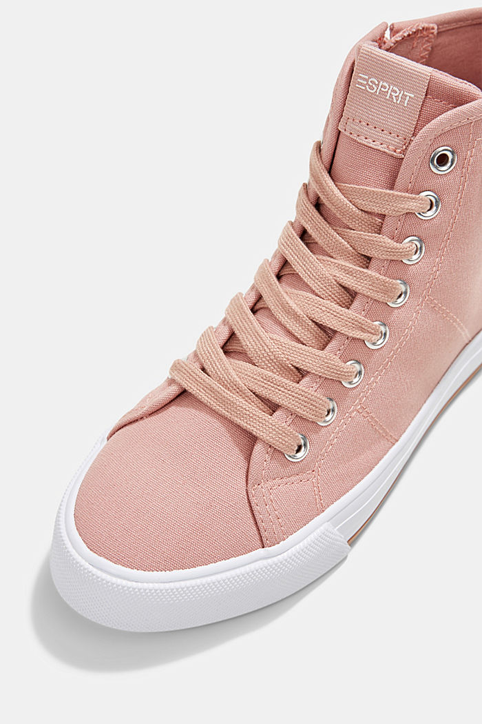 High-top canvas trainers, OLD PINK, detail image number 4