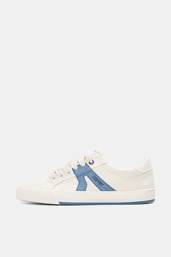 Canvas trainers, 100% cotton, DARK BLUE, detail image number 0