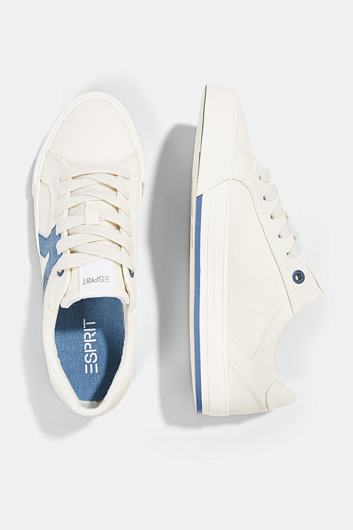 Canvas trainers, 100% cotton, DARK BLUE, detail image number 1