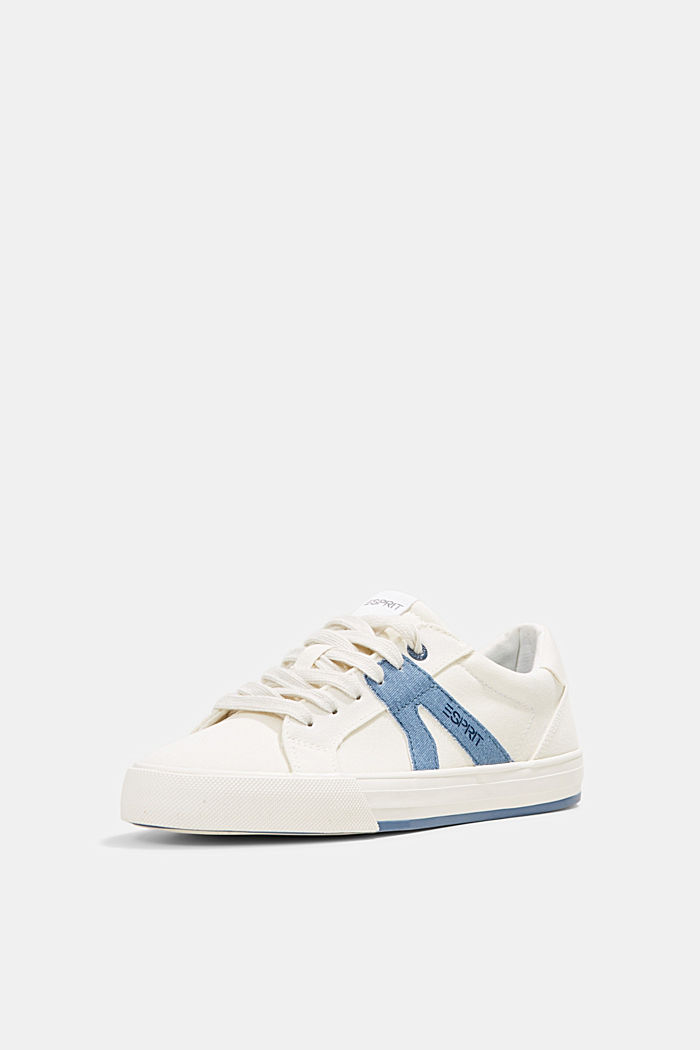 Canvas trainers, 100% cotton, DARK BLUE, detail image number 2