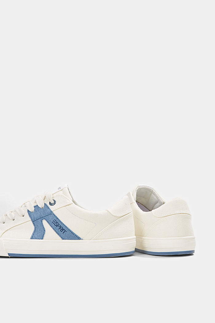 Canvas trainers, 100% cotton, DARK BLUE, detail image number 5