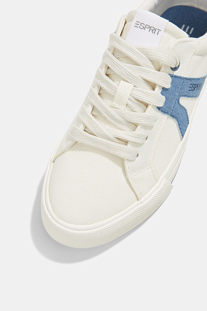 Canvas trainers, 100% cotton, DARK BLUE, detail image number 4