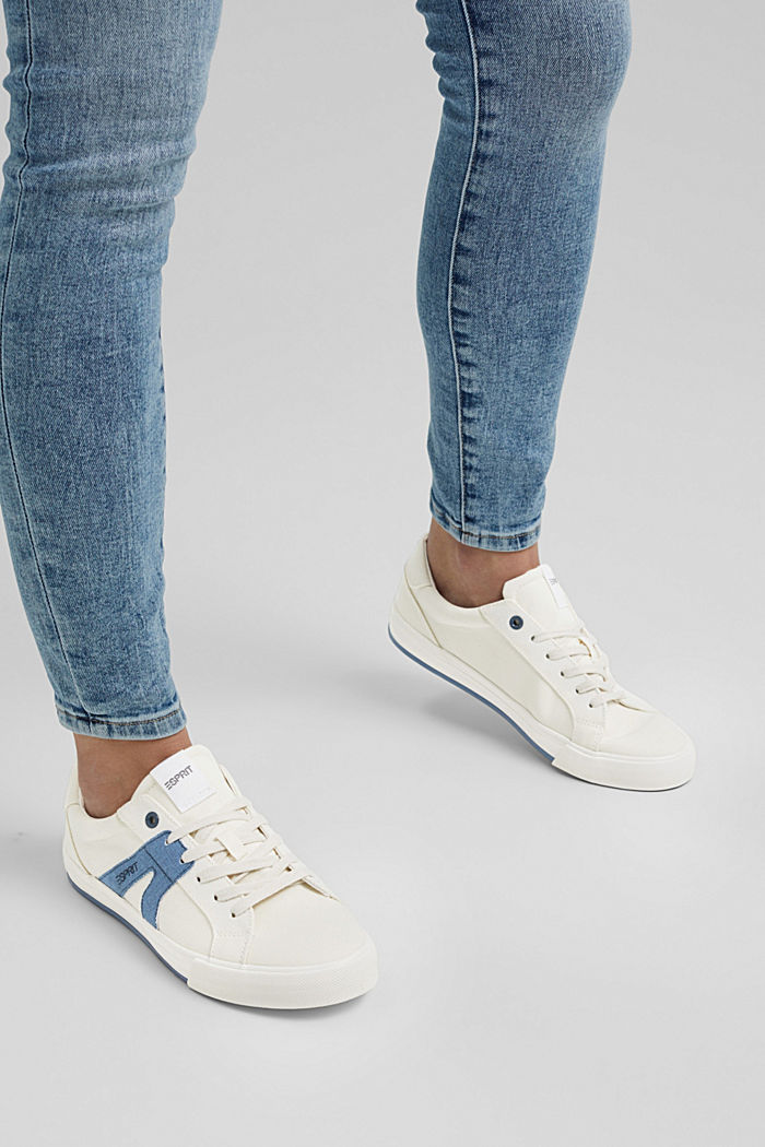 Canvas trainers, 100% cotton, DARK BLUE, detail image number 3