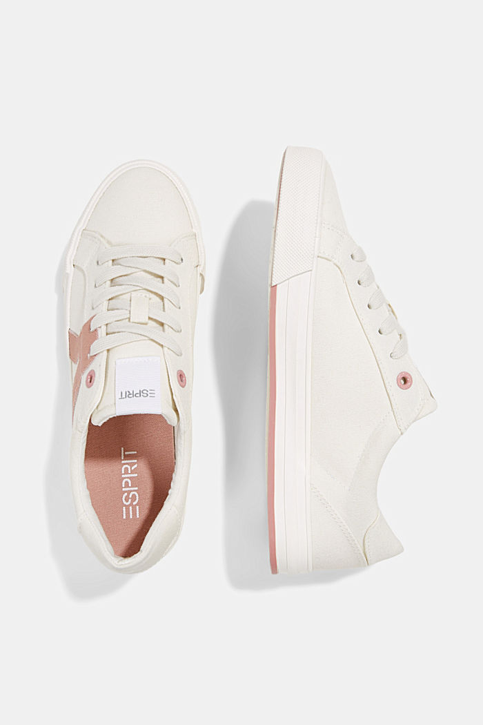 Canvas trainers, 100% cotton, OLD PINK, detail image number 1