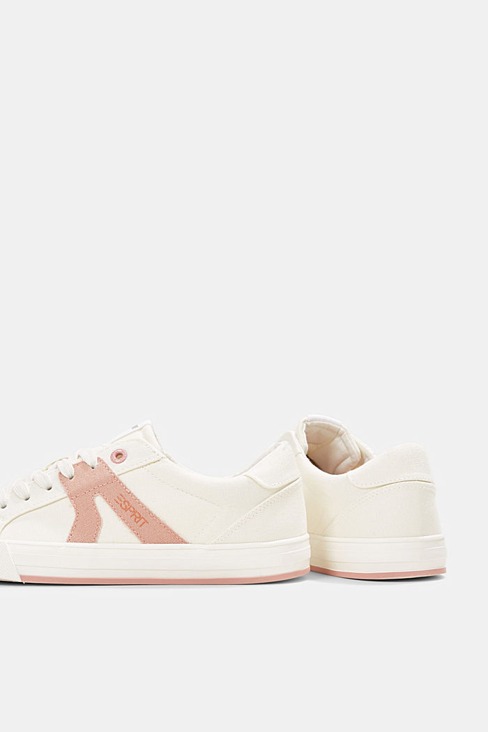 Canvas trainers, 100% cotton, OLD PINK, detail image number 5