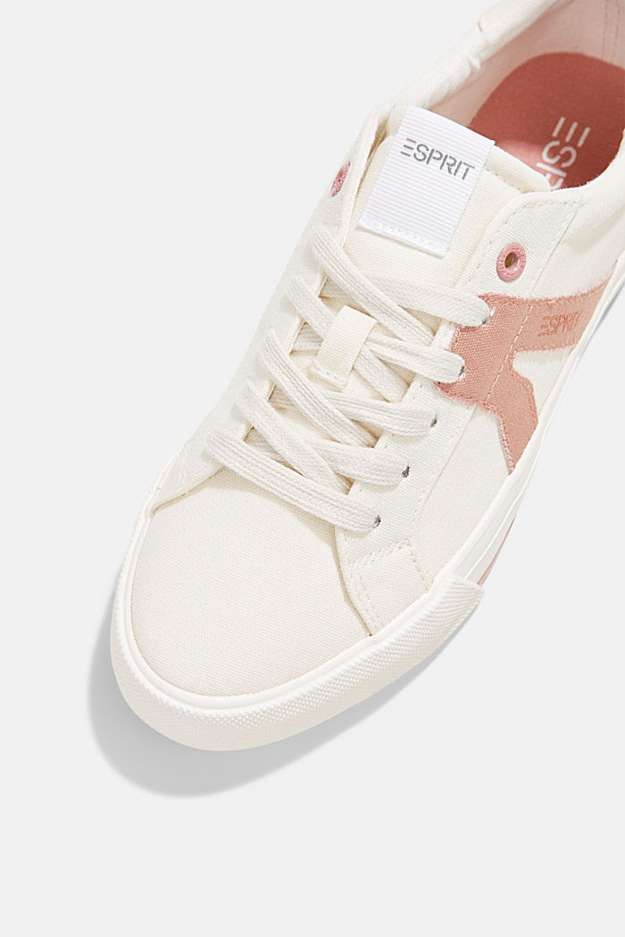 Canvas trainers, 100% cotton, OLD PINK, detail image number 4