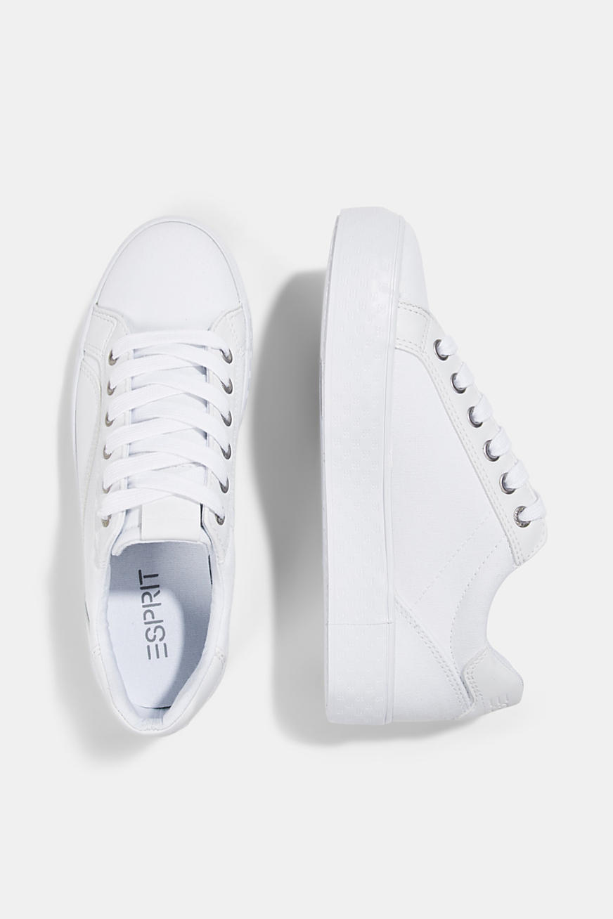 Canvas sneakers met monogramzool