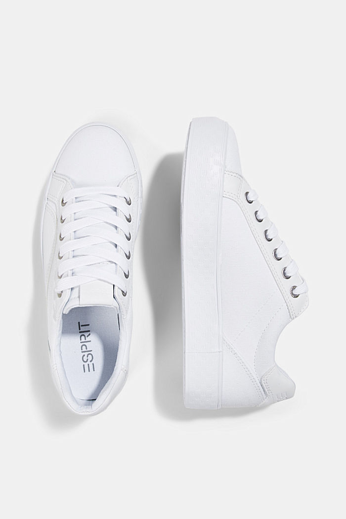 Canvas trainers with a monogram sole