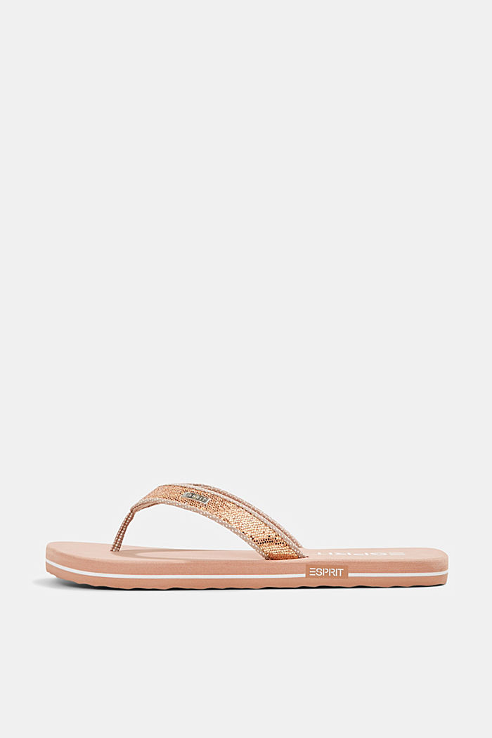 Slip slops with glittery straps, OLD PINK, detail image number 0