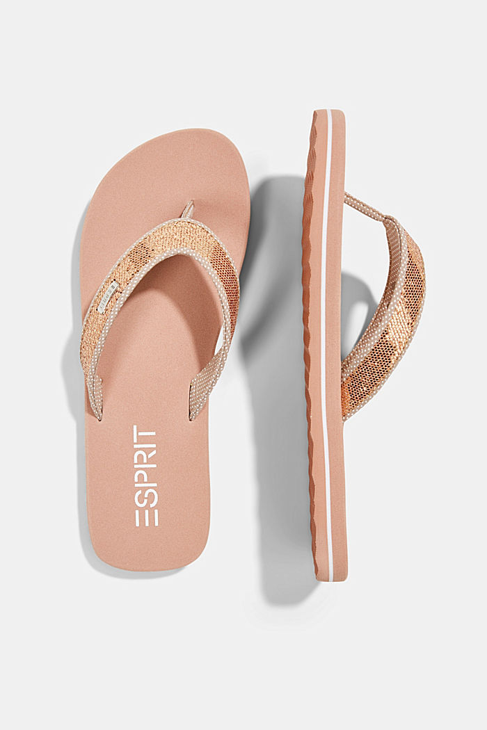 Slip slops with glittery straps, OLD PINK, detail image number 1