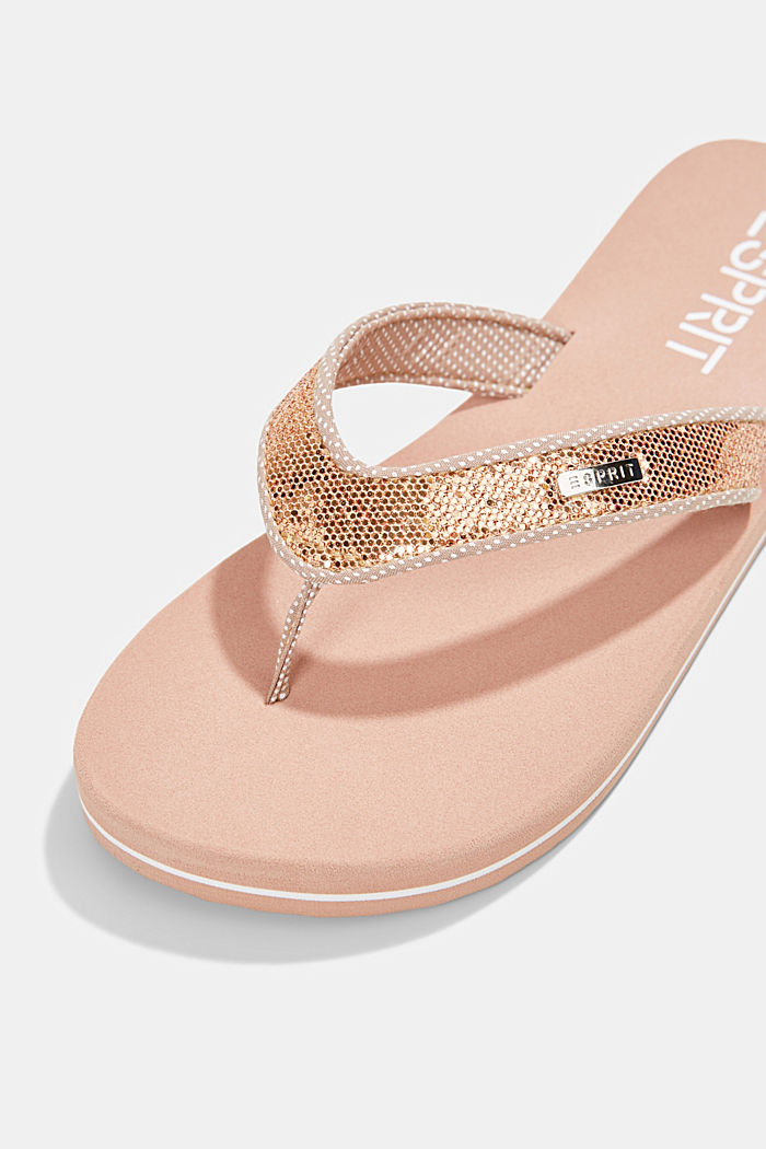 Slip slops with glittery straps, OLD PINK, detail image number 5