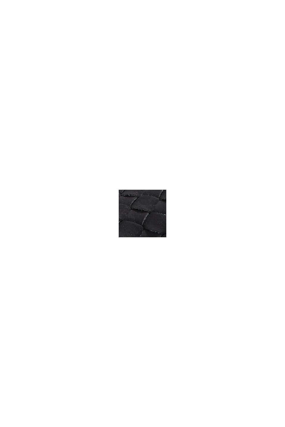 Flätade sandaler i skinnlook, BLACK, swatch