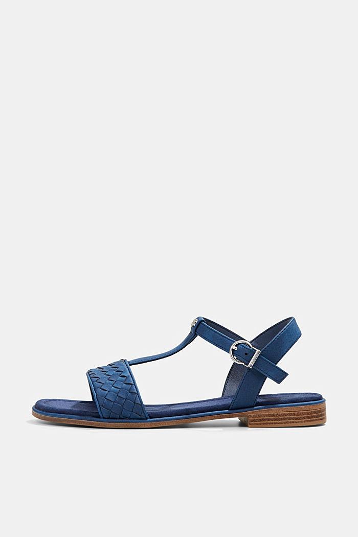 Sandalias de polipiel con diseño trenzado