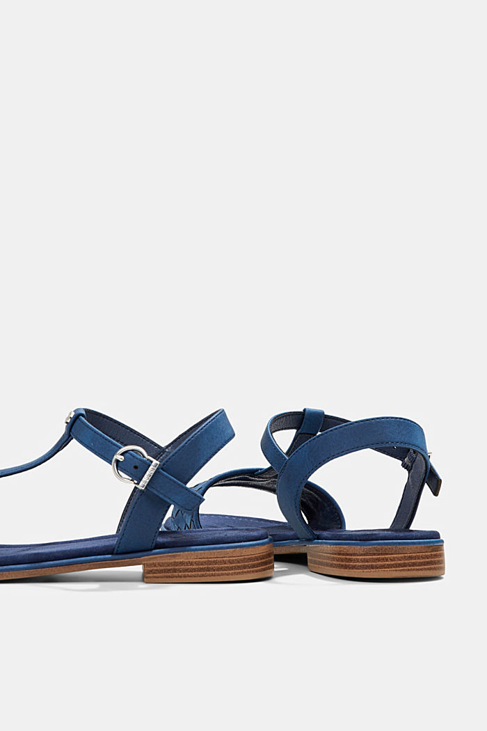 Faux leather braided sandals, DARK BLUE, detail image number 5