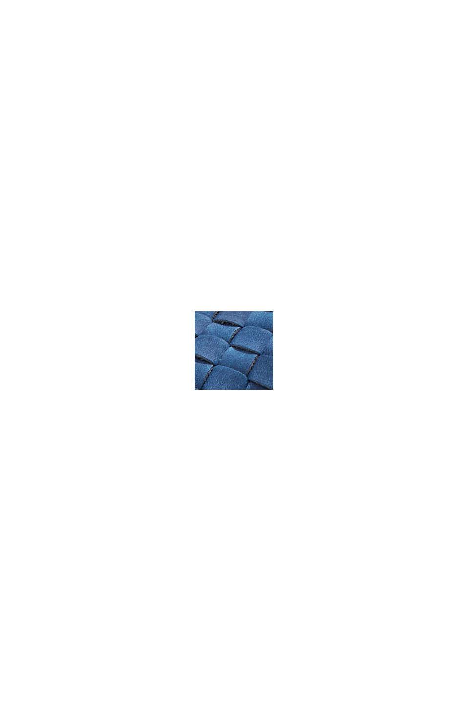 Flätade sandaler i skinnlook, DARK BLUE, swatch