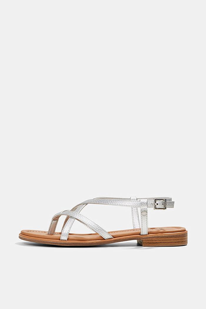 Riemchen-Sandalen in Lederoptik