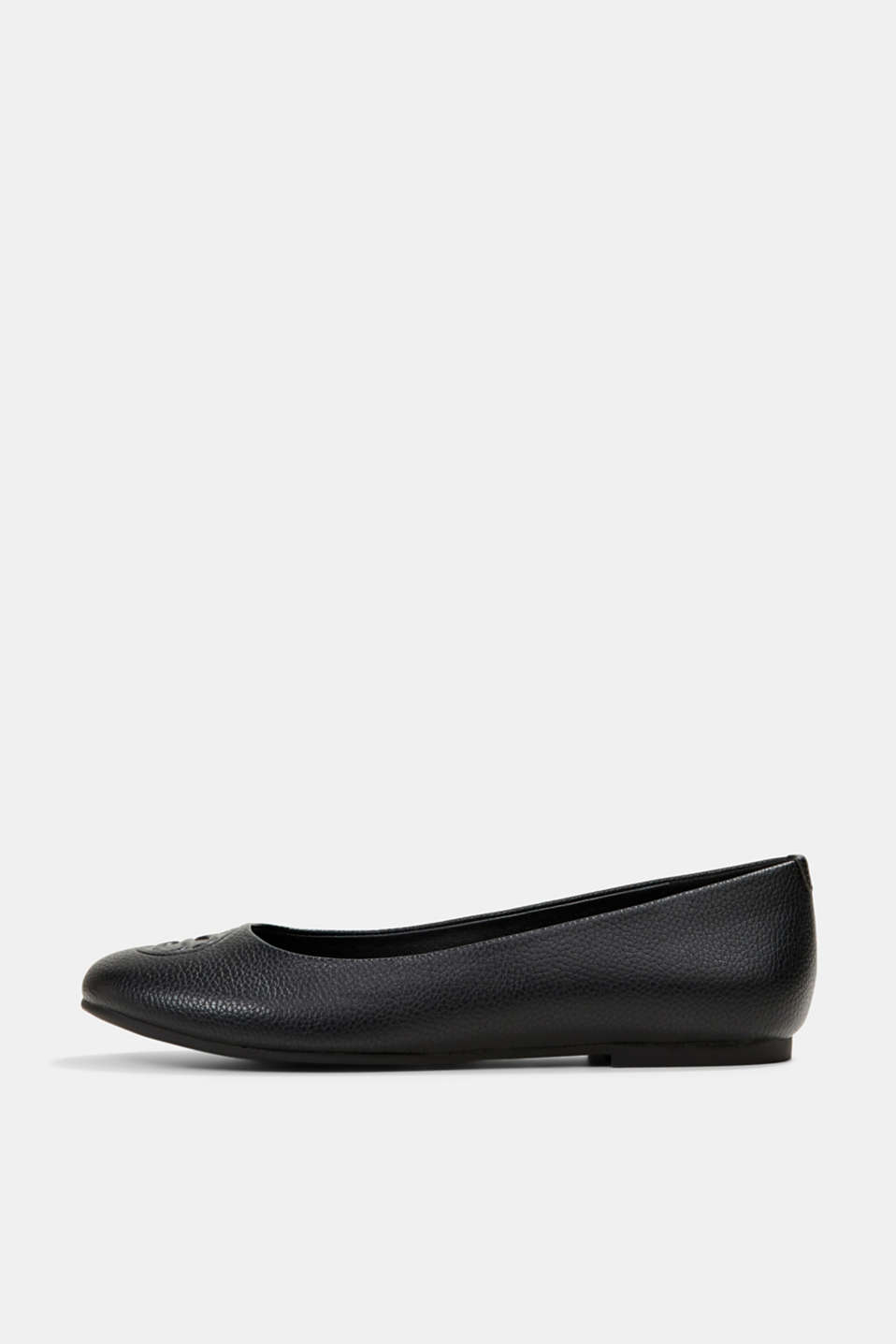 Esprit - Ballerinas with a monogram in faux leather
