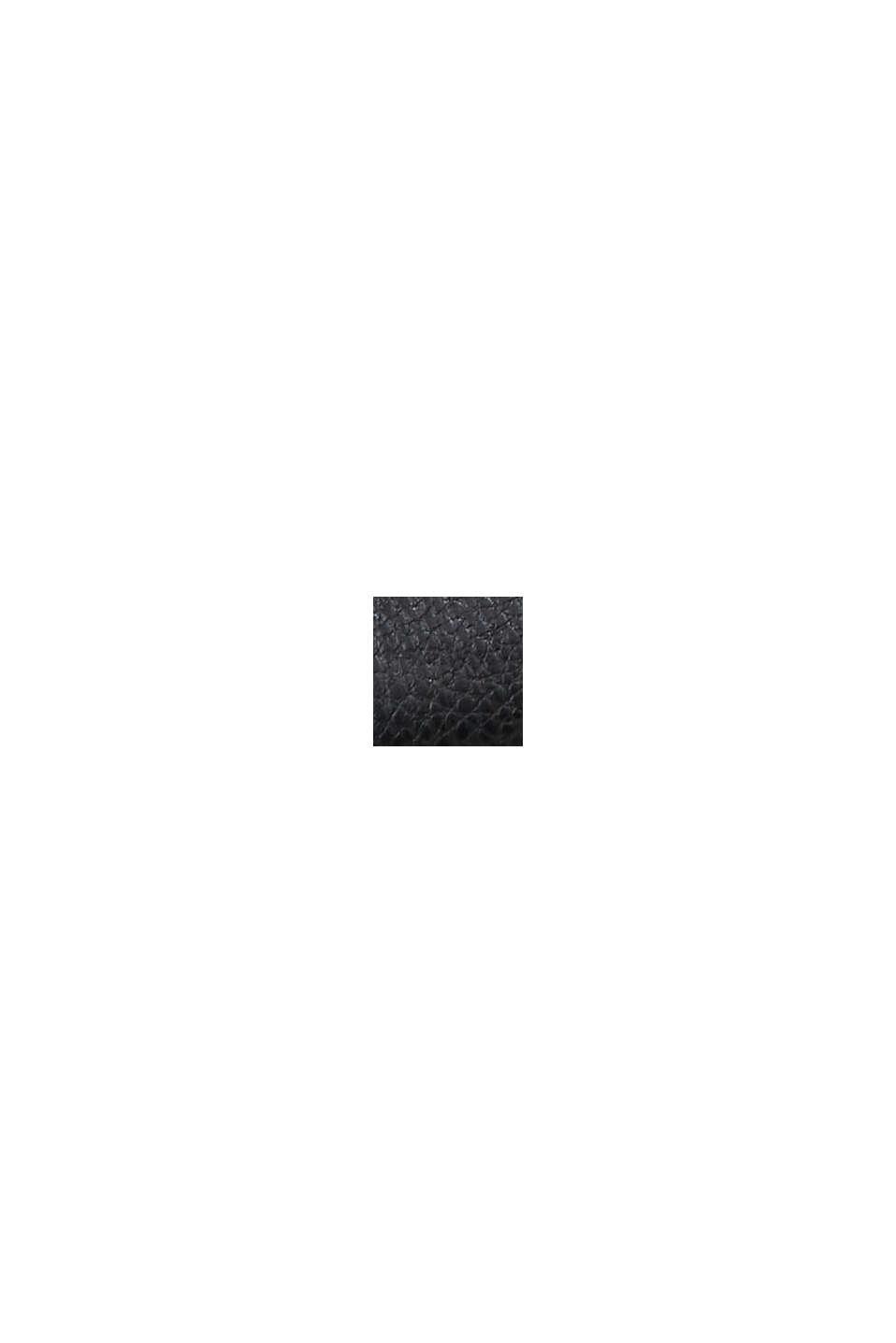 Ballerinaskor med monogram i skinnlook, BLACK, swatch