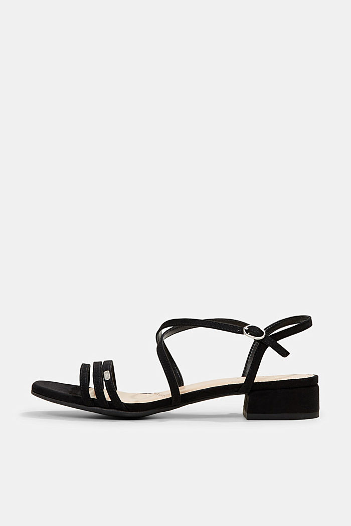 Strappy sandals with a block heel