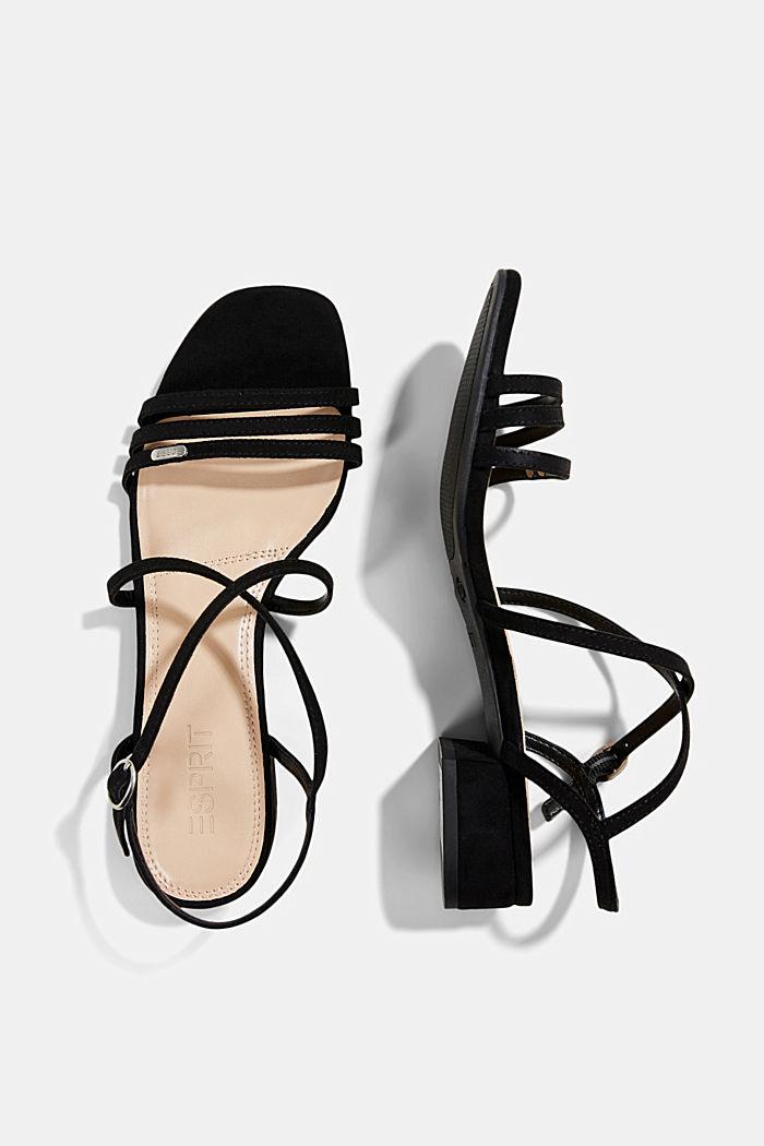 Riemchen-Sandalen mit Blockabsatz, BLACK, detail image number 1