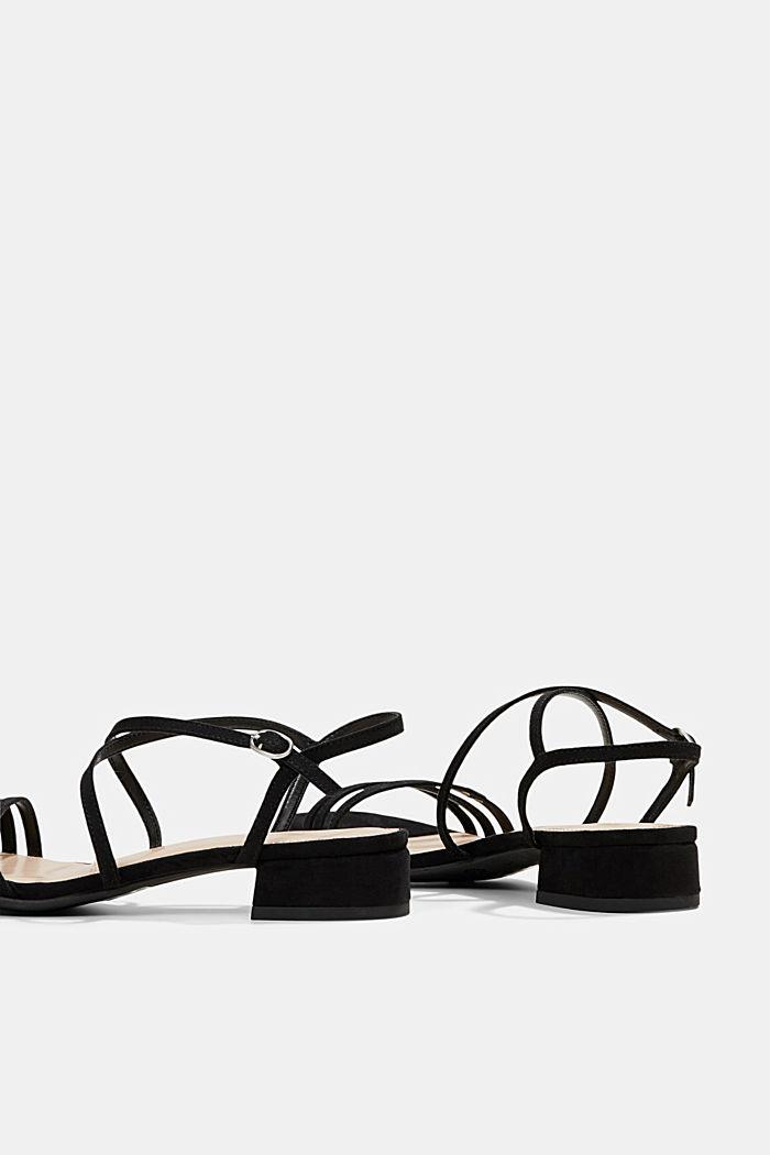 Riemchen-Sandalen mit Blockabsatz, BLACK, detail image number 5
