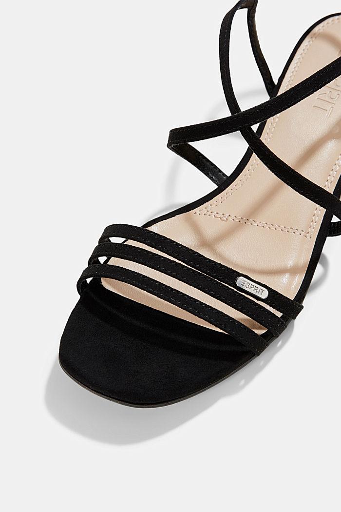 Riemchen-Sandalen mit Blockabsatz, BLACK, detail image number 4