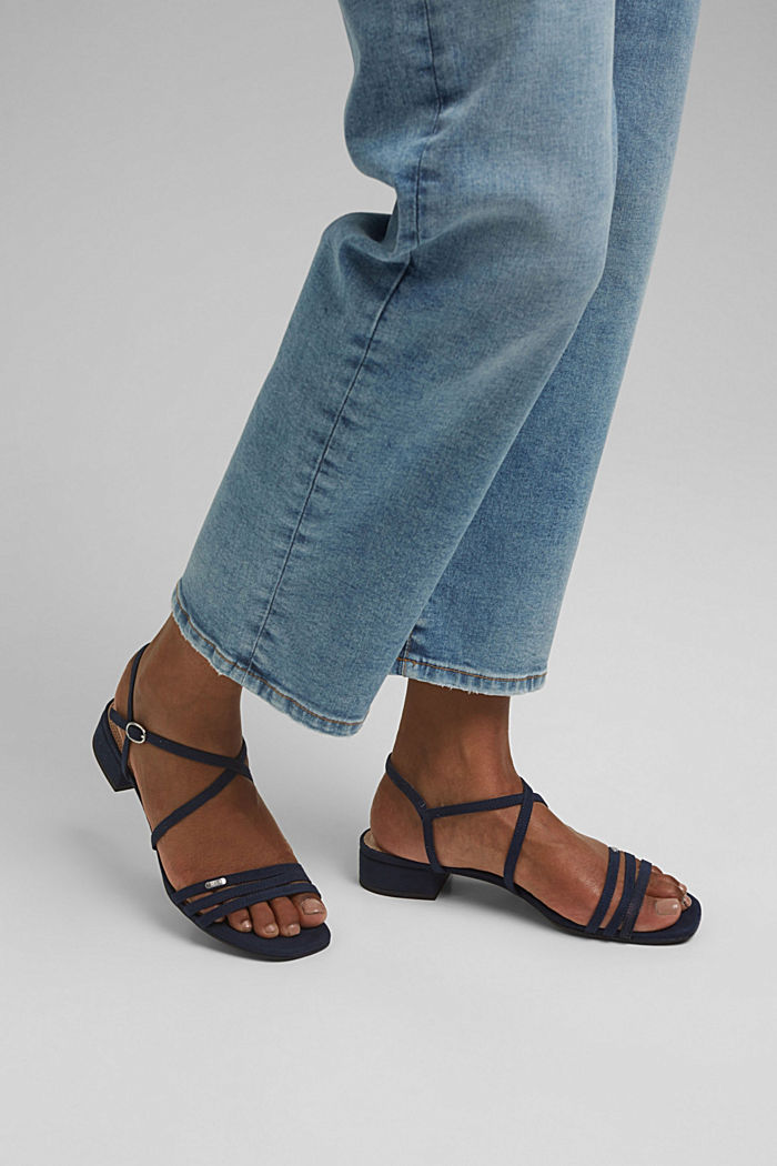 Riemchen-Sandalen mit Blockabsatz