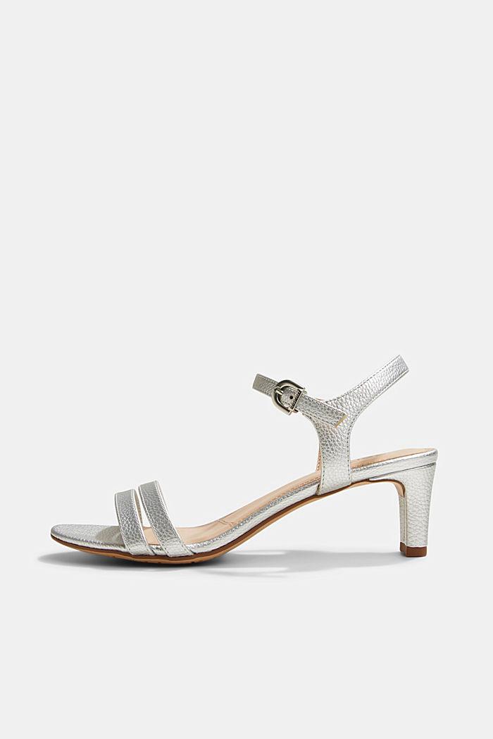 Riemchen-Sandalette im Metallic-Look
