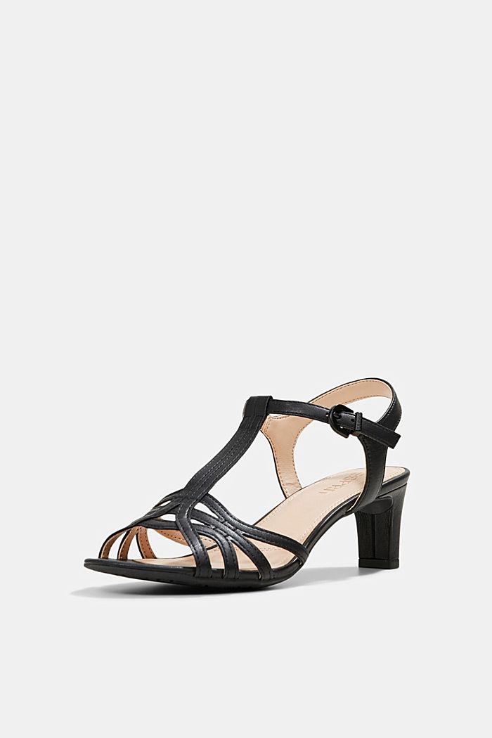 Sandalette mit Riemen in Flecht-Optik, BLACK, detail image number 2