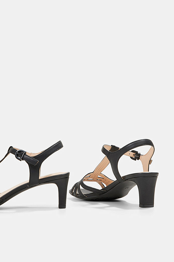Sandalette mit Riemen in Flecht-Optik, BLACK, detail image number 5