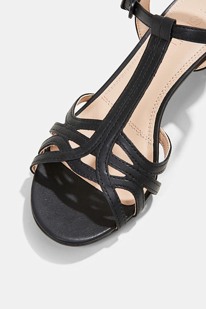 Sandalette mit Riemen in Flecht-Optik, BLACK, detail image number 4