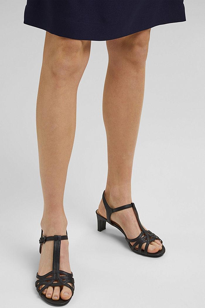 Sandalette mit Riemen in Flecht-Optik, BLACK, detail image number 3