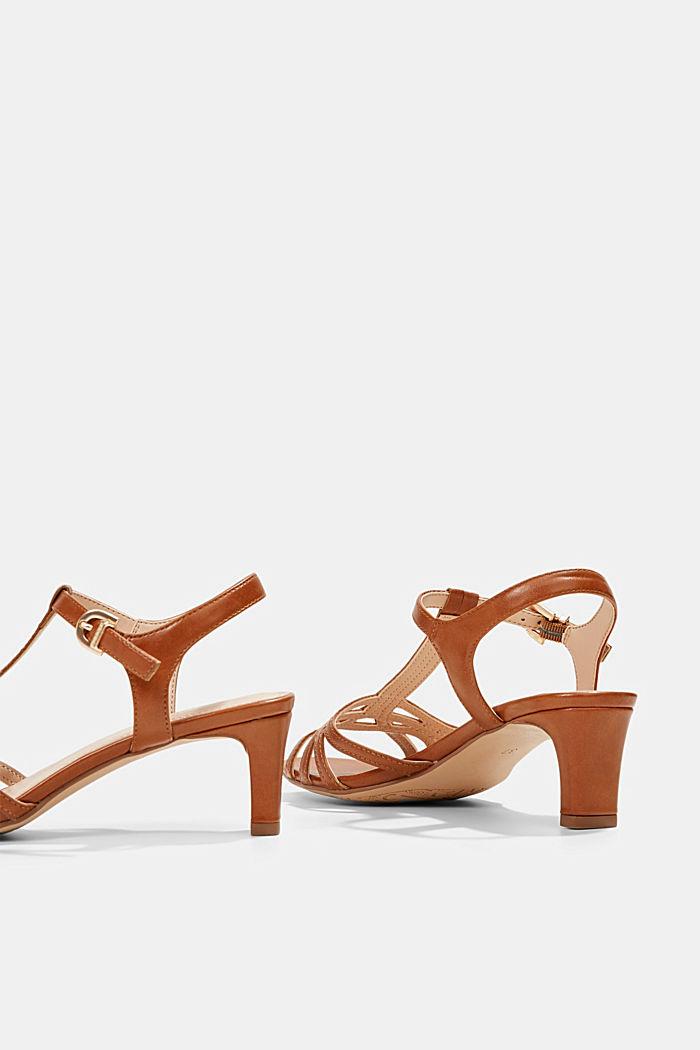 Sandaletit, joissa punotuilta näyttävät remmit, CARAMEL, detail image number 5