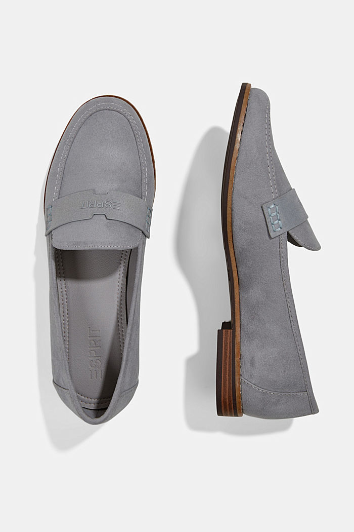 Faux suede loafers, LIGHT GREY, detail image number 1