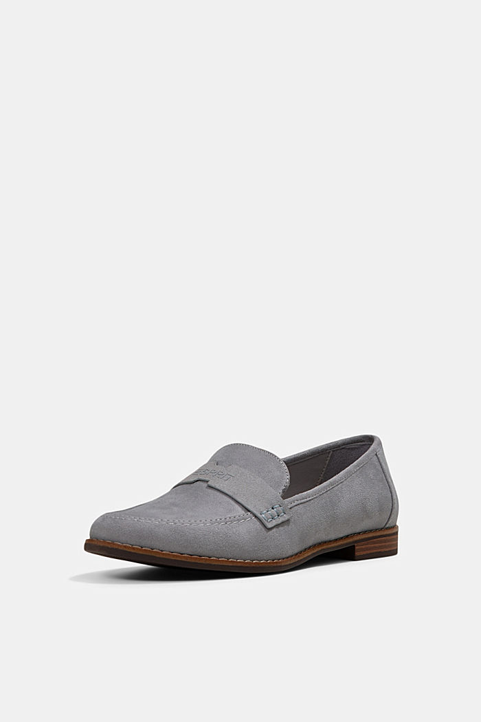 Faux suede loafers, LIGHT GREY, detail image number 2