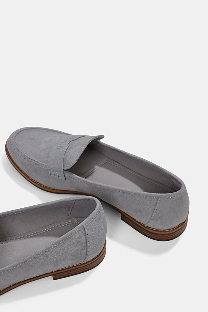 Faux suede loafers, LIGHT GREY, detail image number 5