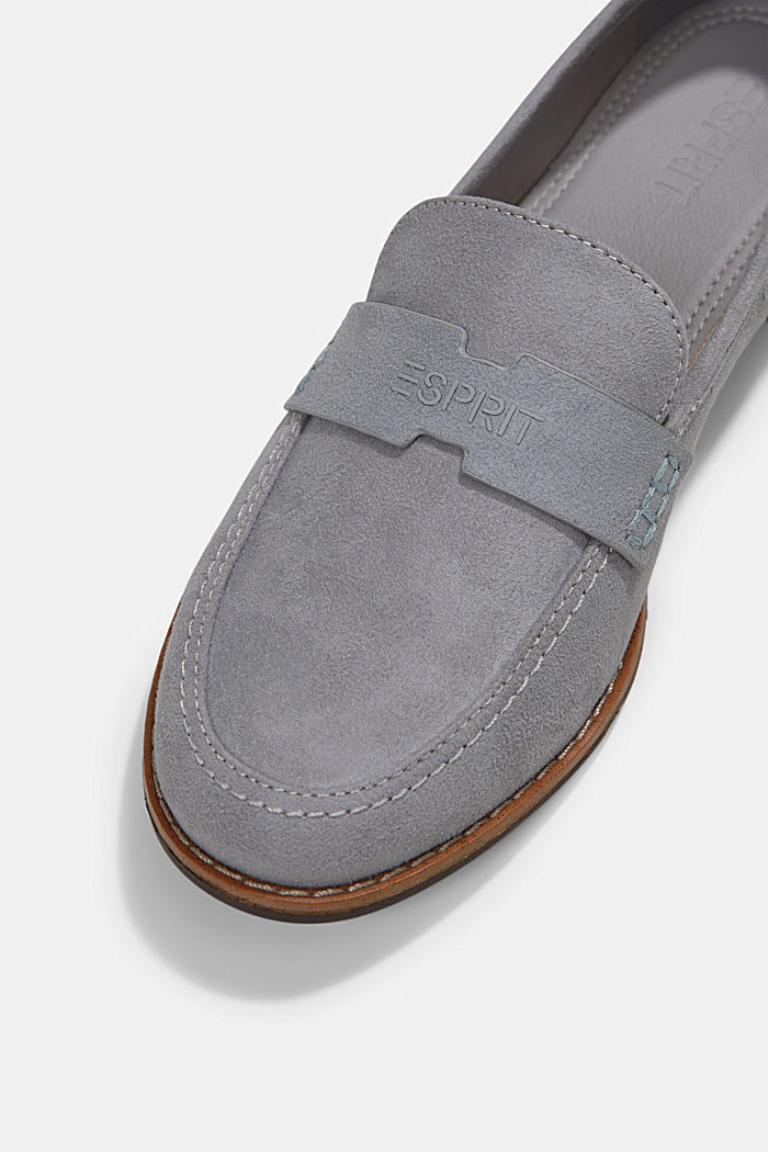 Faux suede loafers, LIGHT GREY, detail image number 4