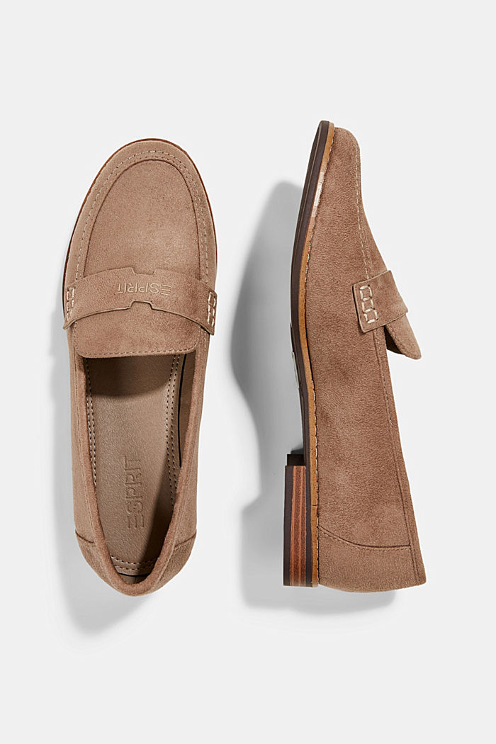 Faux suede loafers, TAUPE, detail image number 1