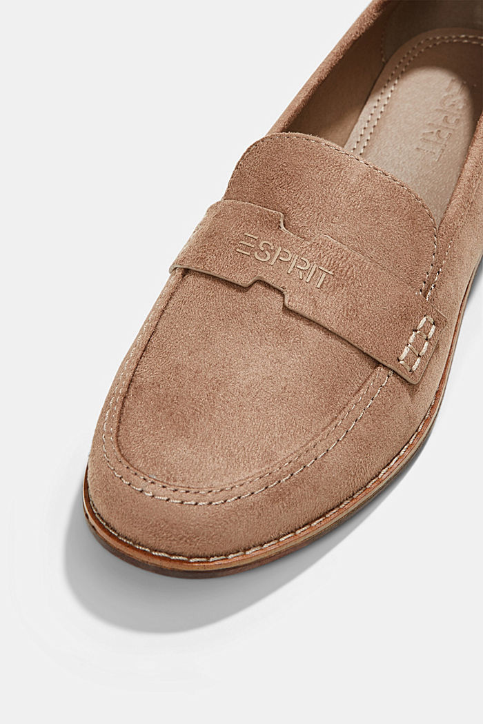 Faux suede loafers, TAUPE, detail image number 4