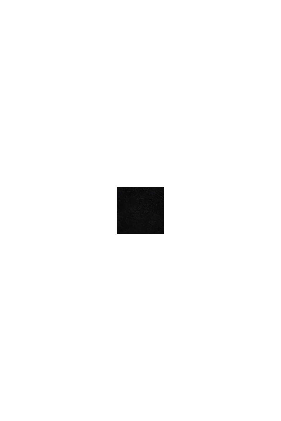 Elegante Slipper aus Rauleder, BLACK, swatch