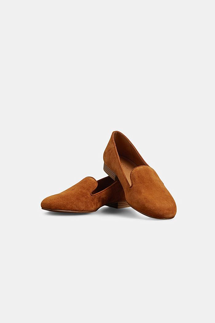 Elegante Slipper aus Rauleder, CARAMEL, detail image number 6