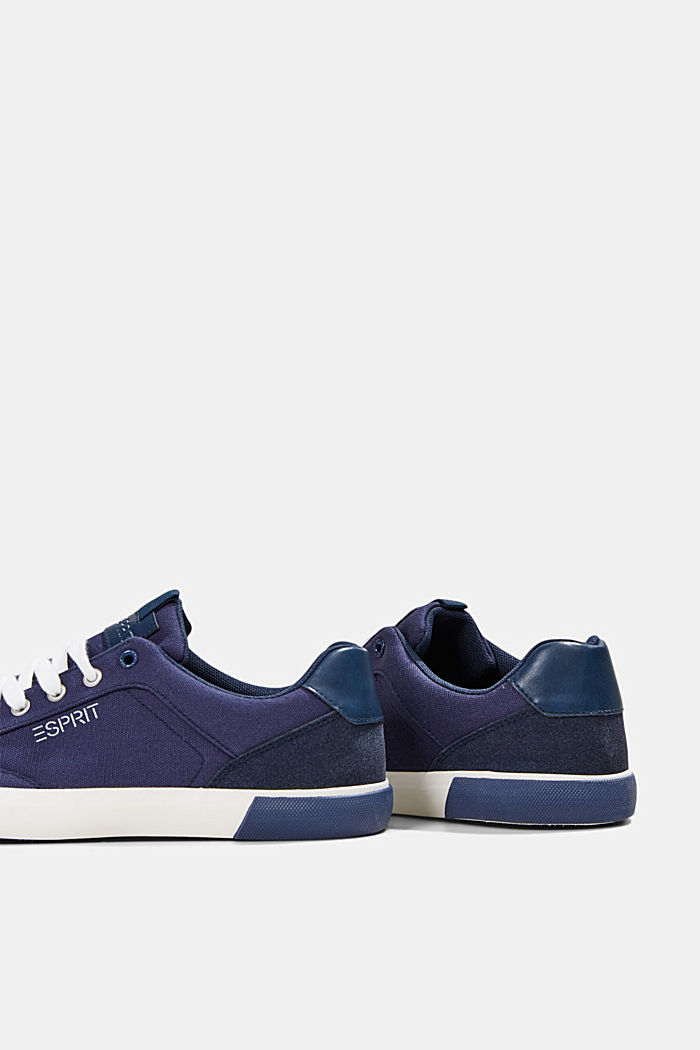 Canvas trainers with a faux leather finish, DARK BLUE, detail image number 5