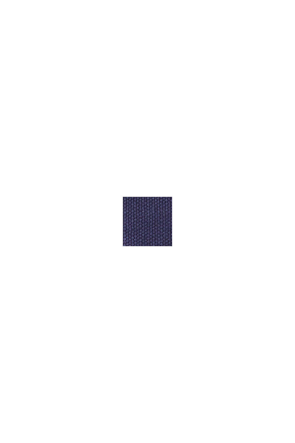 Sneakers di tela in similpelle, DARK BLUE, swatch
