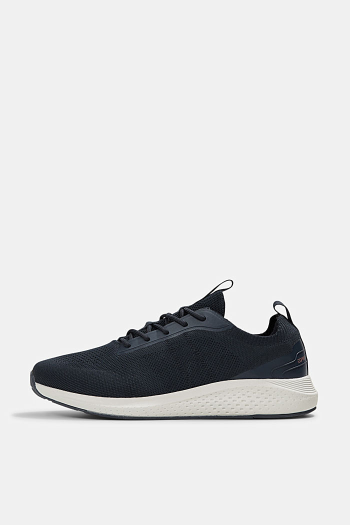 Trainers in a knit look, DARK BLUE, detail image number 0