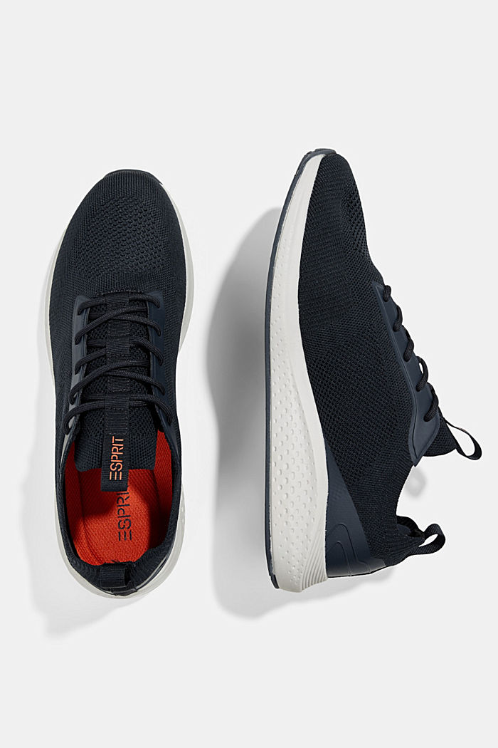 Trainers in a knit look, DARK BLUE, detail image number 1