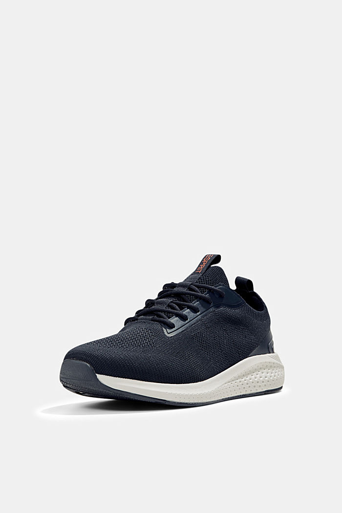 Trainers in a knit look, DARK BLUE, detail image number 2