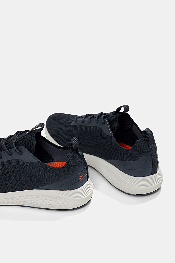 Trainers in a knit look, DARK BLUE, detail image number 5