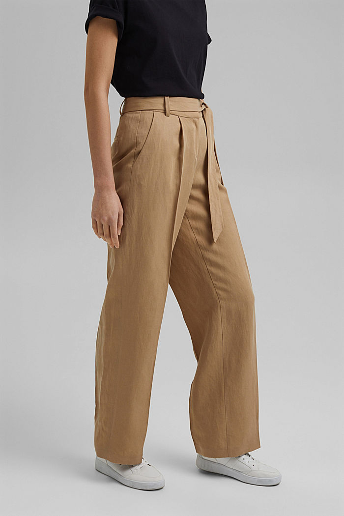 SOFT Mix + Match linen blend trousers