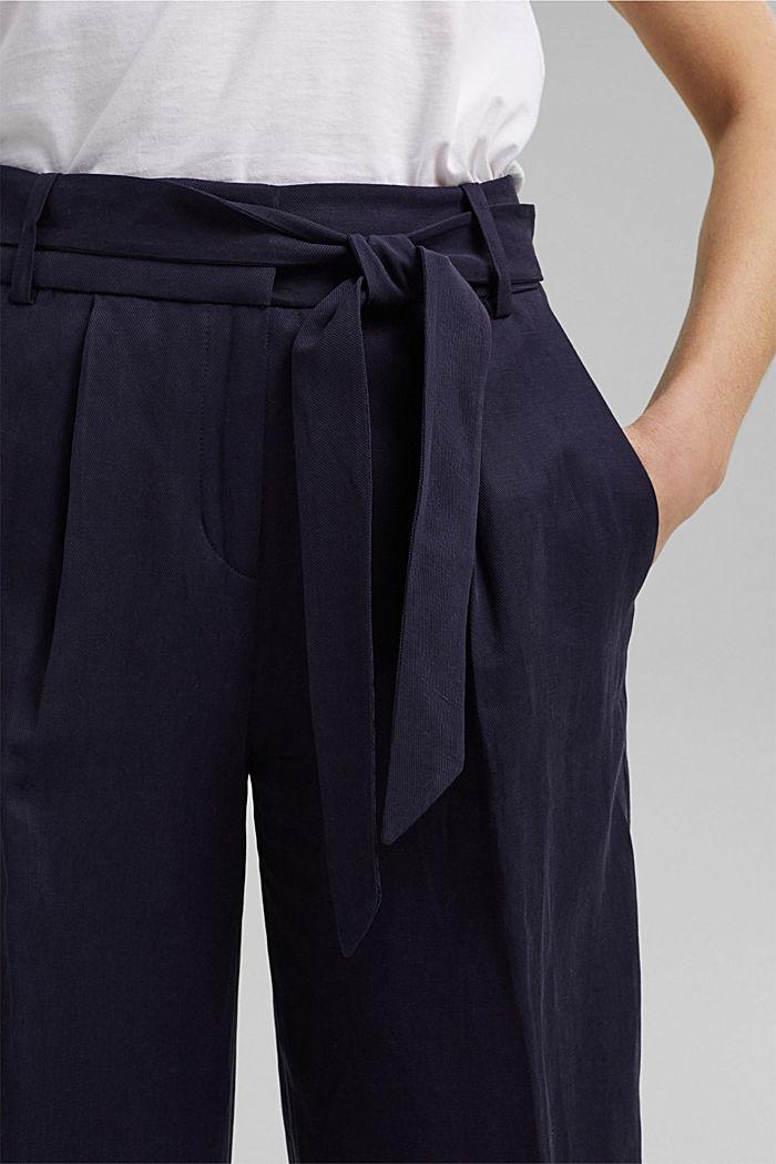 SOFT Mix + Match linen blend trousers, NAVY, detail image number 2